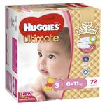 Huggies Jumbo Ultimate Crawler Girl 72 Pack