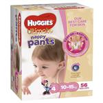 Huggies Jumbo Ultimate Nappy Pants Toddler Girl 56 Pack