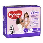 Huggies Ultra Dry Nappy Pants Size 6 15kg & Over Girl 24 Pack