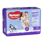 Huggies Ultra Dry Nappy Pants Size 5 12-17kg Boy 26 Pack