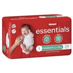 Huggies Essentials Size 1 Newborn up to 5kg 28 Nappies