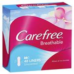Carefree Breathable Liners Unscented 48 Pack