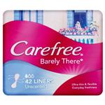 Carefree Barely There Liners Unscented 42 Pack