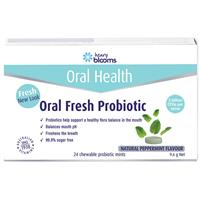 Blooms Oral Fresh Probiotic 24 Chewable Mint Tablets