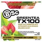 BSC Green Tea TX100 Strawberry Mint 60 x 3g Serve