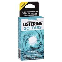 Listerine GO! Clean Mint Chewable Tablets 16 Pack