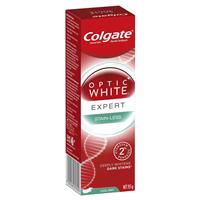 Colgate Optic White Stain-Less White Cool Mint Whitening Toothpaste with Hydrogen Peroxide 85g