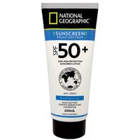 National Geographic SPF 50+ Sunscreen Lotion 200ml Tube