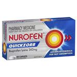 Nurofen Quickzorb Pain Relief Tablets 48 pack Ibuprofen Lysine 342mg