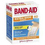 Band-Aid Extra Wide Plastic Strips 40 Pack